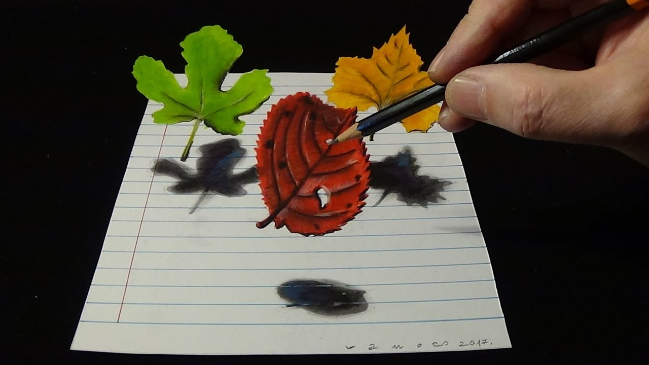how to make 3d leaves out of paper
