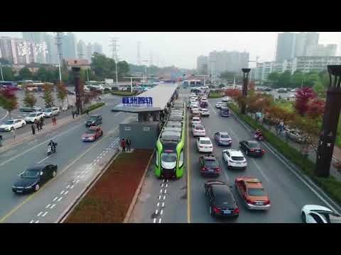 World's first unmanned smart electric bus trials in south China