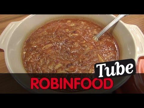 """ROBINFOOD / Sopa de ajo al microondas """"Capitán Trueno"""" + Pizza de cabra con alcachofas"""