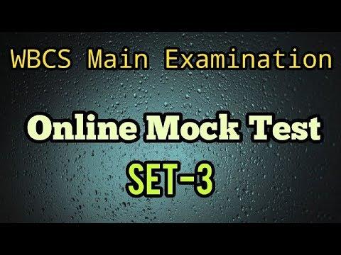 WBCS Main Online Mock Test Set:- 3