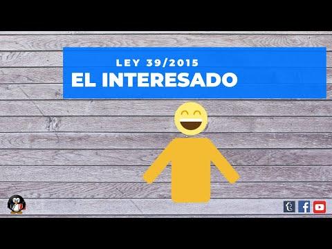 Ley 39/2015. El interesado. Derechos de los interesados y de las personas.