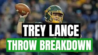 Trey Lance Throw Breakdown