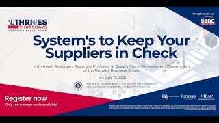 NJTT#011: Systems to Keep Your Suppliers in Check