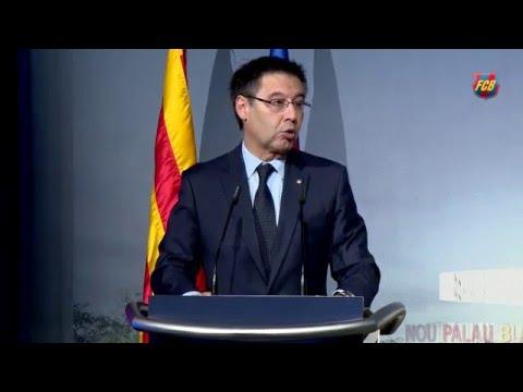 """Josep Maria Bartomeu: """"El nuevo Palau será una joya arquitectónica"""""""