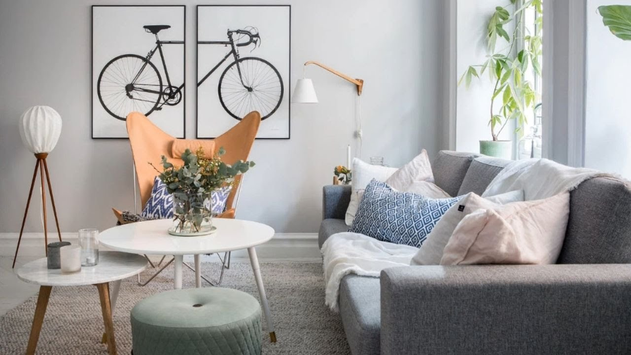 Tour bright apartment pastel colors scandinavian style 🍍