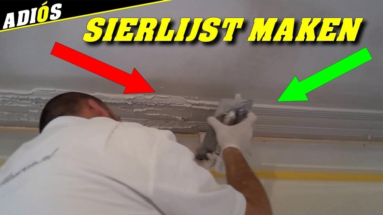 Hoe maak je een mooie sierlijst of ornament op een plafond for Plafond sierlijst