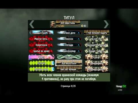 Мои титулы в игре Call Of Duty Modern Warfare 3