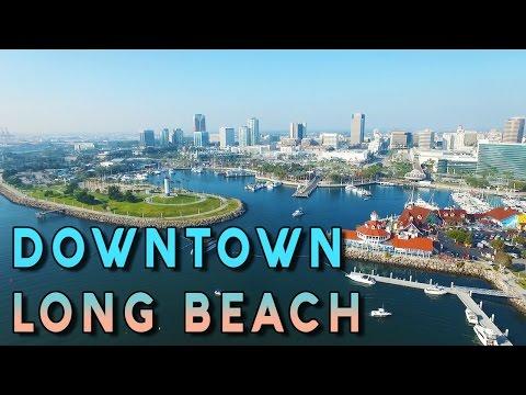Amazing Aerial View Of Downtown Long Beach - Phantom 3 Pro