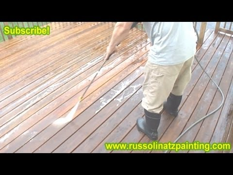 Diy Stripping Sanding Amp Staining Deck Part 2