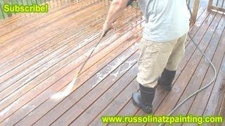 Diy Stripping, Sanding, & Staining Deck (part 2) - Benjamin Moore Arbor Coat Deck Stain
