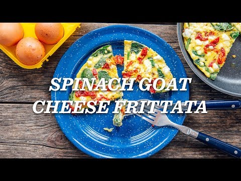 REI Camp Recipes: Spinach Goat Cheese Frittata