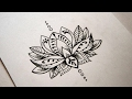 Simple Lotus Mandala - Speed Drawing