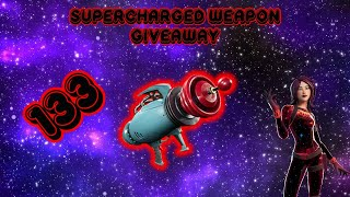 SUPERCHARGED WEAPON GIVEAWAY *LIVE* #STW #GIVEAWAY