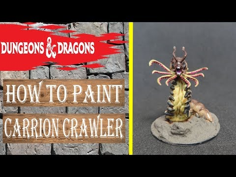 How To Paint Dungeons Dragons Carrion Crawler Wizkids Youtube