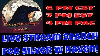 🔴Live Stream Half Dollar Search 4 Silver W/ Raven! 2-27-20 6 PM CST!