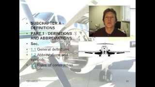 Understanding FAA Regulations Part 2, Aviation Regulations, FARs