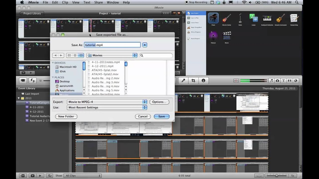 how to add video to imovie project