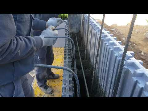 StyroStone ICF concrete pour Zaragoza/Spain. Part 2