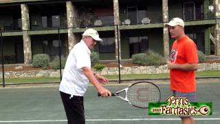 Tennis Tips: Roy Emerson Shows Us How to Hit a Slice Backhand