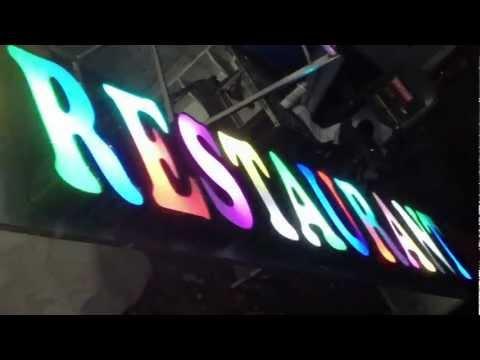 LED Sign, 3D Letter, RGB