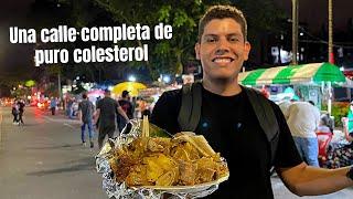 La CALLE del COLESTEROL en Medellin   Comida callejera Colombiana