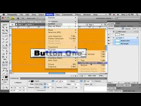 Tutorial on How to Make Adobe Fireworks CS4 Web Layout