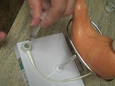 A Gastric Band (Lap band) Adjustment Demonstration