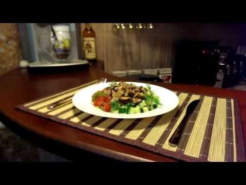 Салат Морской бриз. Сковорода и морепродукты. Рецепт.