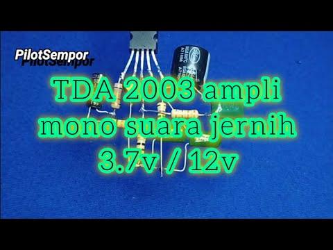 Ampli Ic TDA2003 Suara Jernih 12/3v Batre