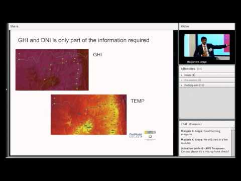 Solar resource data - presentation by Harsh Goenka & Riaan M