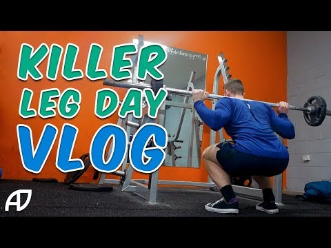 KILLER LEG DAY   DAY IN THE LIFE VLOG   BUYING SUPPLEMENTS