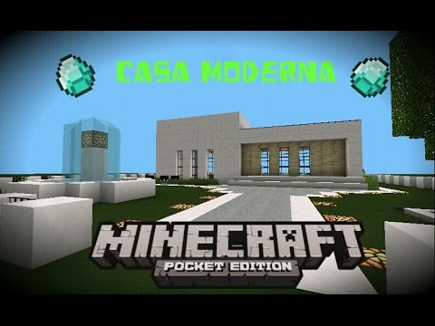 Minecraft pe 0 9 0 casa moderna creando casas 1 youtube for Casa moderna minecraft 0 10 4