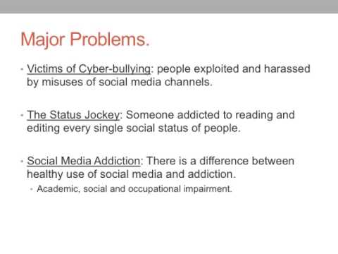 Psychological effects of social media