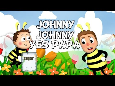 Johny Johny Yes Papa lyrics song with lead Vocal | Nursery Rhymes | Ultra HD 4K Music Video Full