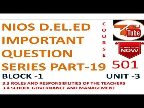 NIOS D.EL.ED IMPORTANT QUESTION SERIES PART-19 Free Online Education Books College Degree |TEJ TUBE