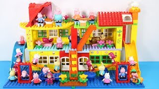 Peppa Pig Building House With Water Slide Toys For Kids - Lego Duplo House Creations Toys #4