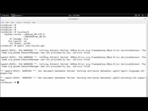 change system language in debian 8.5