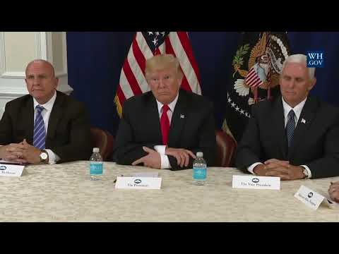 Full: President Trump Briefing/EXPLOSIVE Press Conference on North Korea/Mitch McConnell 8/10/17