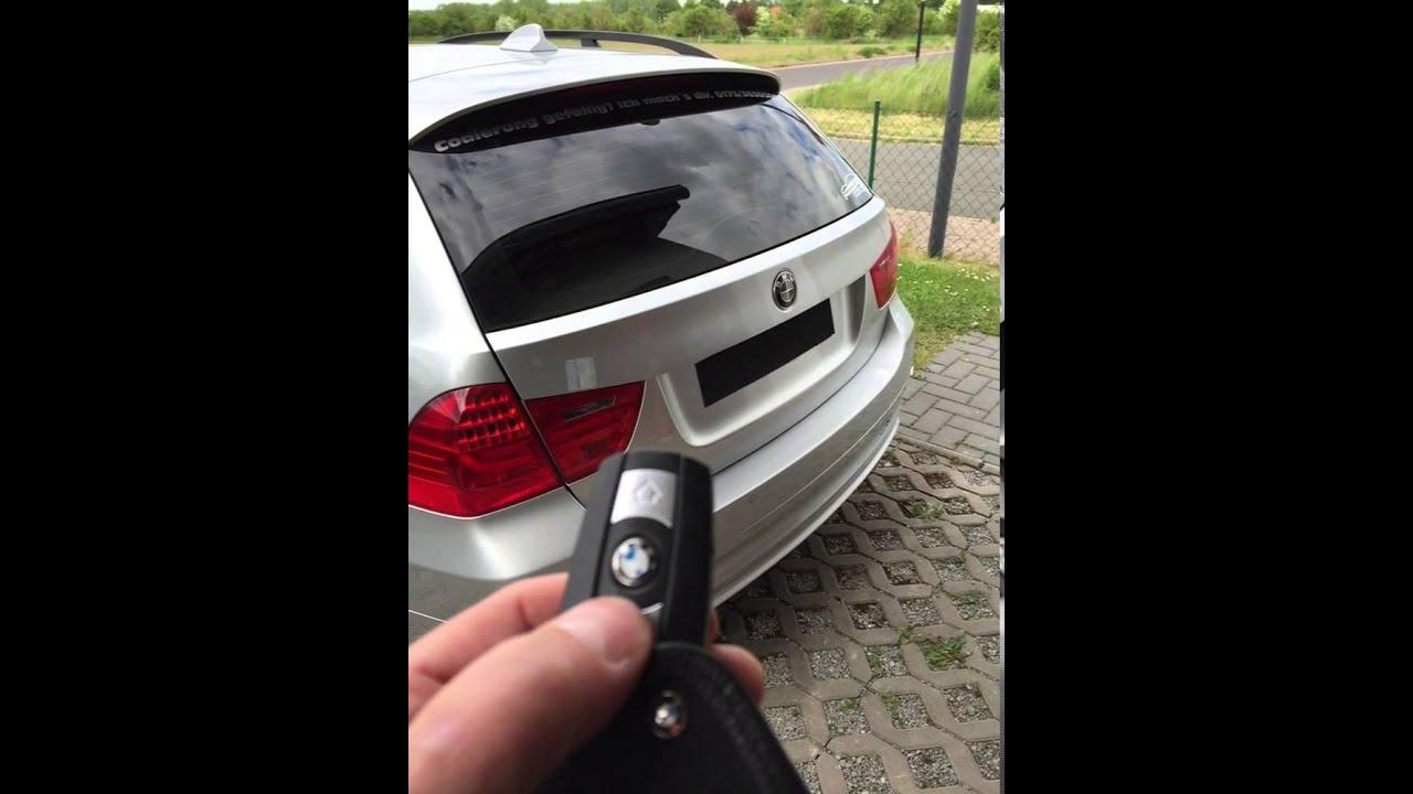 Bmw E91 Heckscheibe 246 Ffnen Mit Fernbedienung Youtube