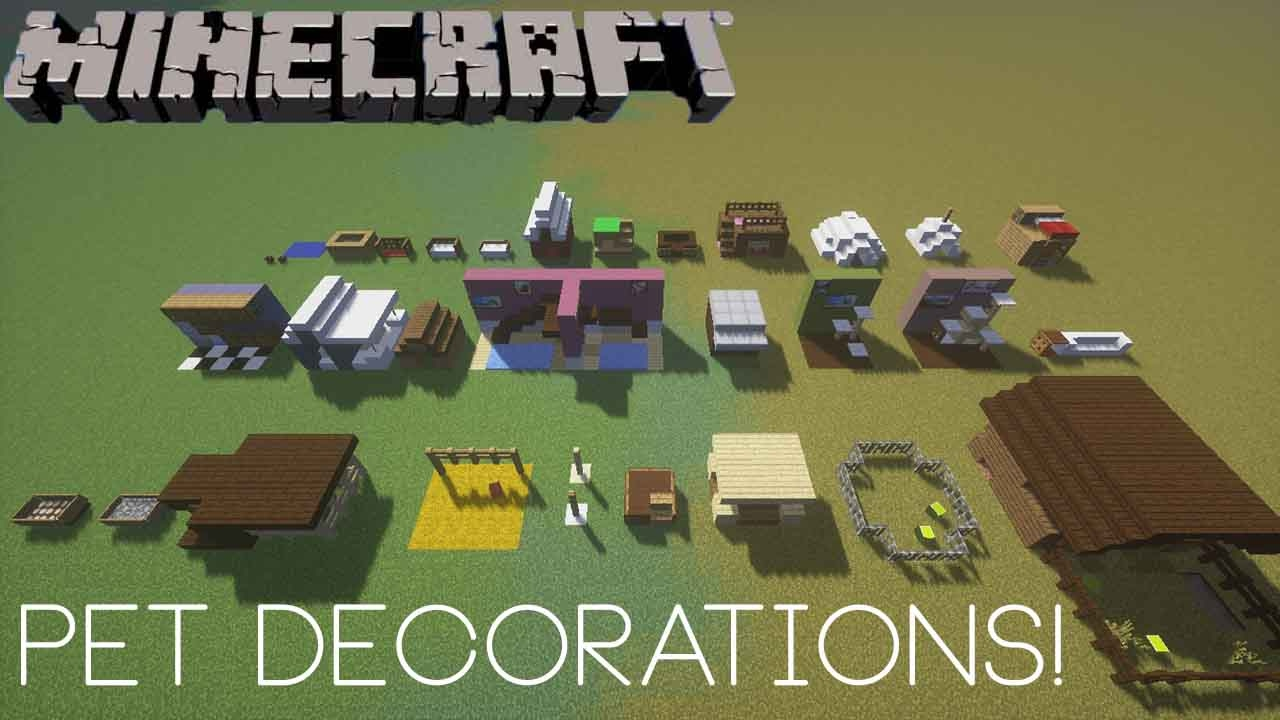 decorations in minecraft