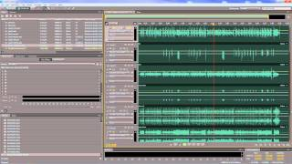 Adobe Audition - Mixing and applying effects to clips in a multitrack session