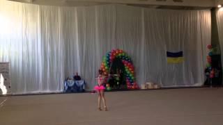 Художественная гимнастика [Гавриленко Даяна 9 лет | Выступление с обручем]