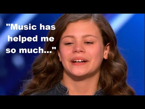 She TURNED TO MUSIC AFTER her PARENTS DIVORCED..A TEARJERKER Performance EARNED GOLDEN BUZZER