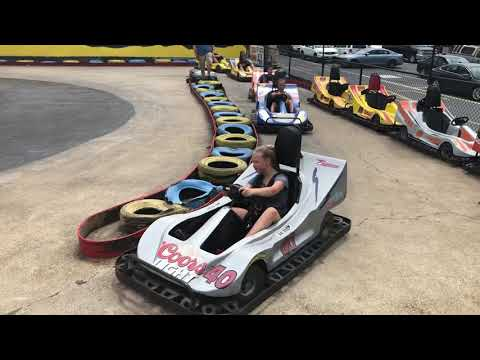 Go karts at midway speedway in Delaware