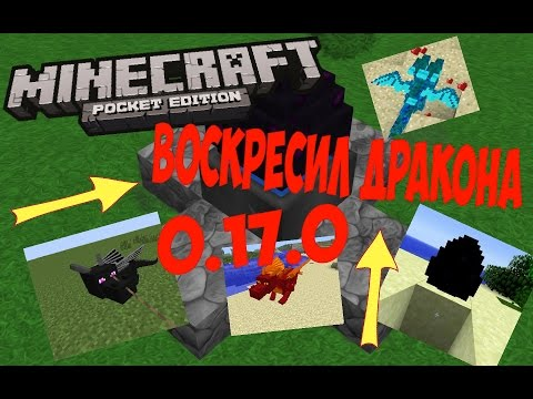КАК ВЫРАСТИТЬ ЭНДЕР ДРАКОНА в Minecraft PE 0.17.0 (Без модов и текстур )