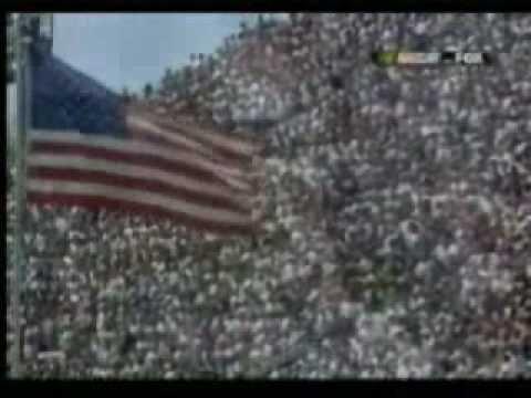 Bobbie Eakes singing the national athem at NASCAR