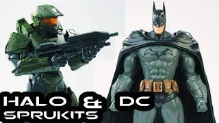 Bandai DC COMICS and HALO 4 SpruKits