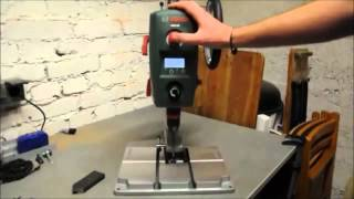 Test Bosch PBD 40 Tischbohrmaschine Expert 710 W elektr Drehzahlanzeige 2 Gänge max Bohr Ø 40 mm