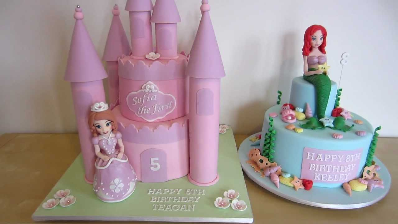 Sofia The First Amp Ariel The Little Mermaid Cake Which
