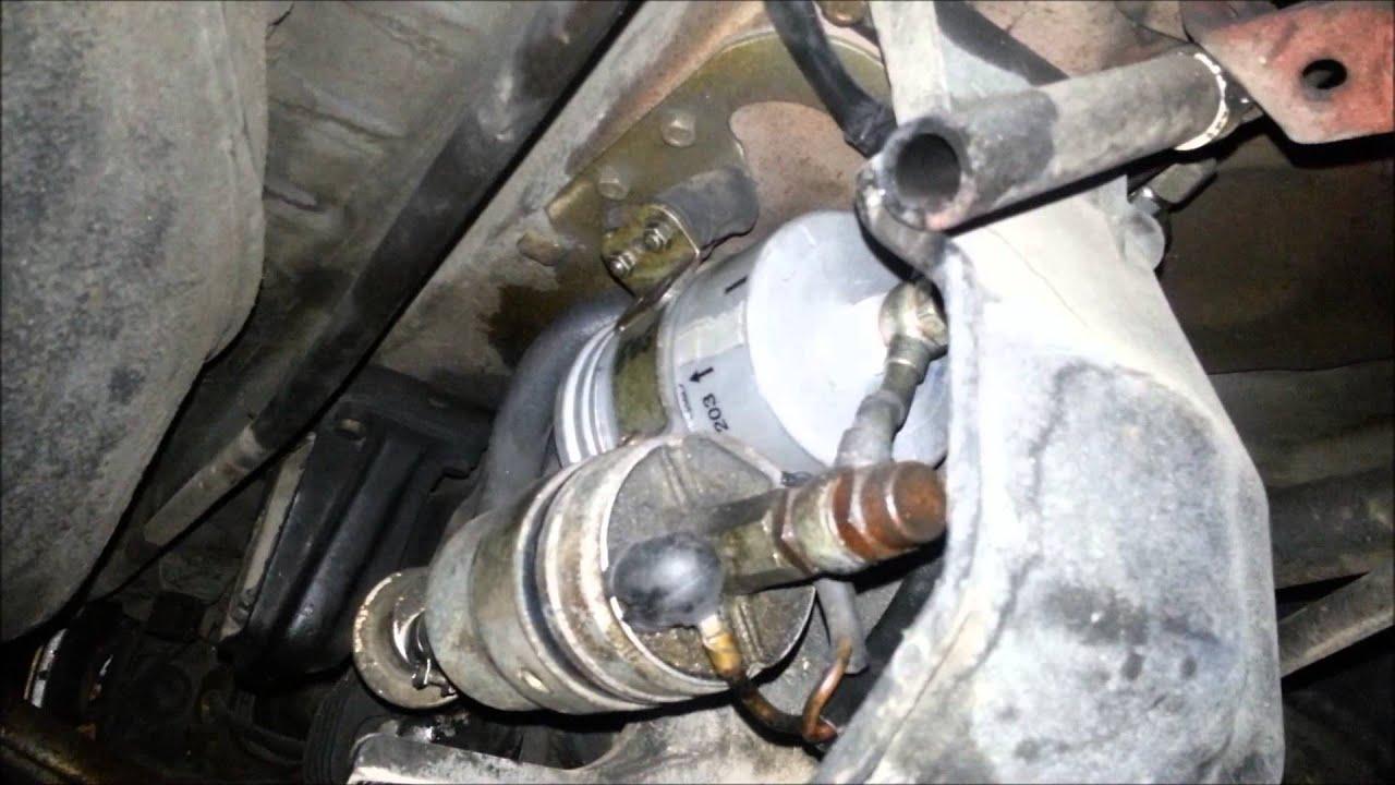 Mercedes W123 Fuel Filter Location 01 Ml320
